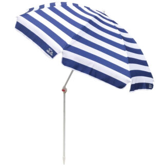Resort Tilt Deluxe Beach Umbrella Blue Stripe