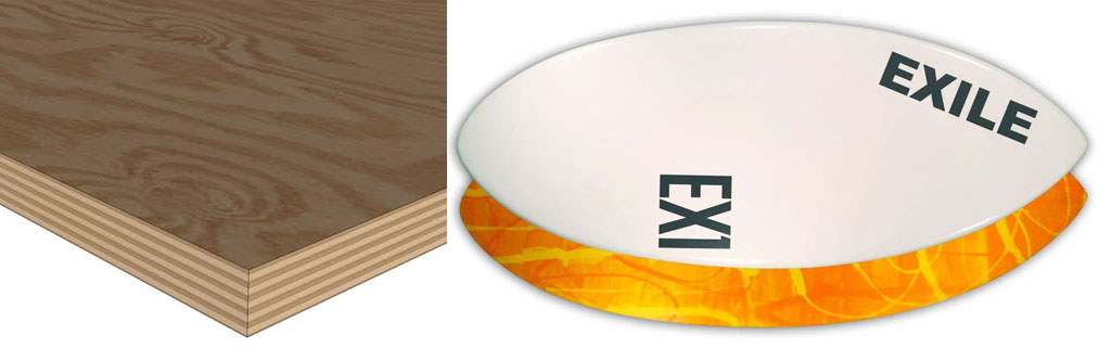 Exile Skimboards Construction