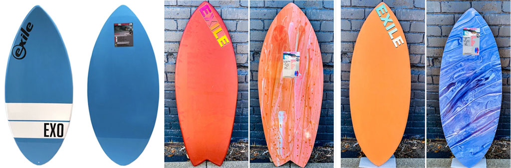 Exile Skimboards Board Shapes