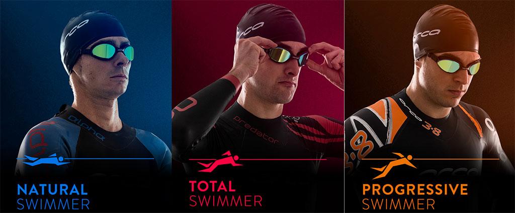 Orca High Performance Swim Gear Triathalon Wetsuits Natural Swimmer Total Swimmer Progressive Swimmer