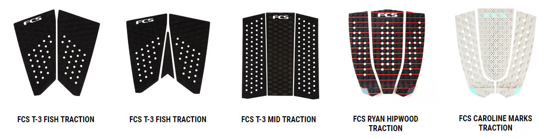 Surfboard Traction FCS Models