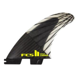 FCS II Carver Black Tri Fin Set Surfboard Fins