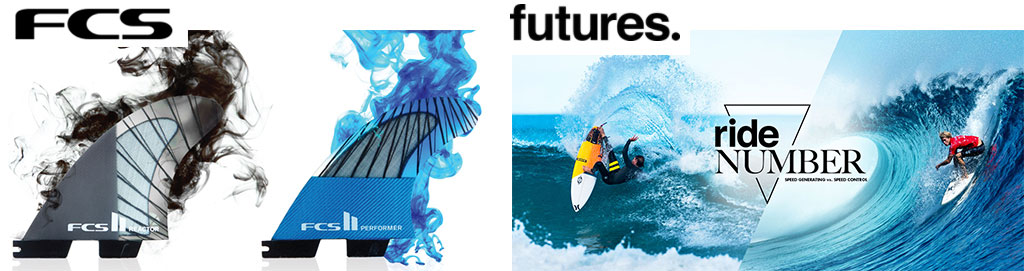 Manly Surfboards Stocks FCS and Future Fins
