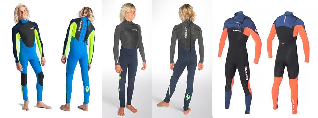 Kids-Wetsuits-C-Skins-Element-Kids-3-2mm-Steamer-and-C-SKINS-Legend-3-2mm-Junior-Back-Zip-Wetsuit-Steamer-and-C-SKINS-Rewired-3-2mm-Junior-Chest-Zip-Wetsuit-Steamer