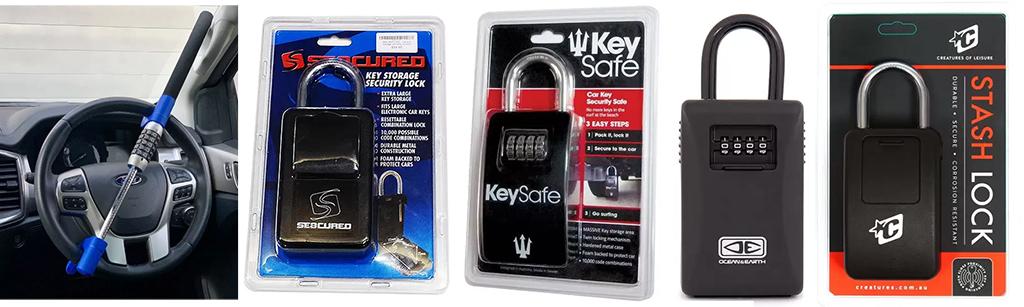 Surf-Accessories-FK-Surf-Car-Lock-and-Seacured-Key-Storage-Security-Lock-and-Ocean-EArth-Ocean-Earth-Key-Vault-Lock-and-Creatures-Stash-Lock
