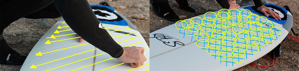 Surfboard Wax Application