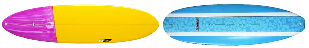 Surfboards-NSP-04-Dream-Rider-Mini-Mal-and-Sunride-Surfboard-Mal-Blue-Floral-Inlay