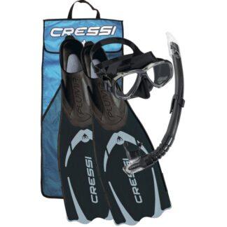 Cressi Pluma Bag Mask Snorkel Flipper Set